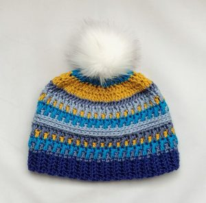 Arctic Gem Beanie Free Crochet Hat Pattern from The Loopy Lamb Blog