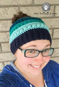 Free Crochet Pattern for messy bun hat
