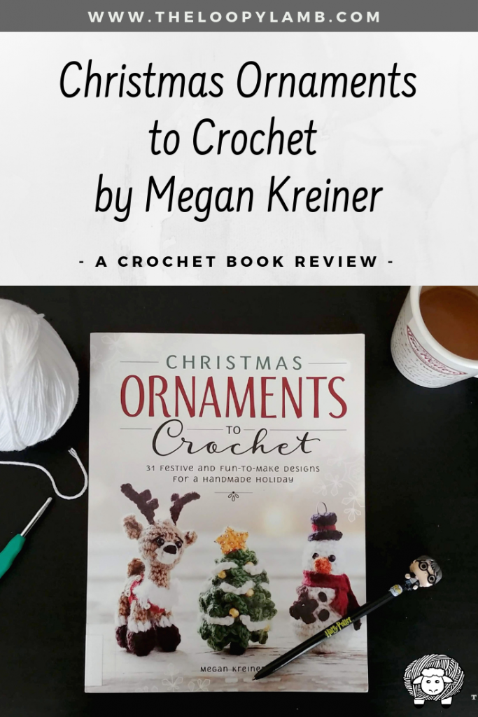 A copy of Ornaments to Crochet by Megan Kreiner with a Harry Potter pen on top.