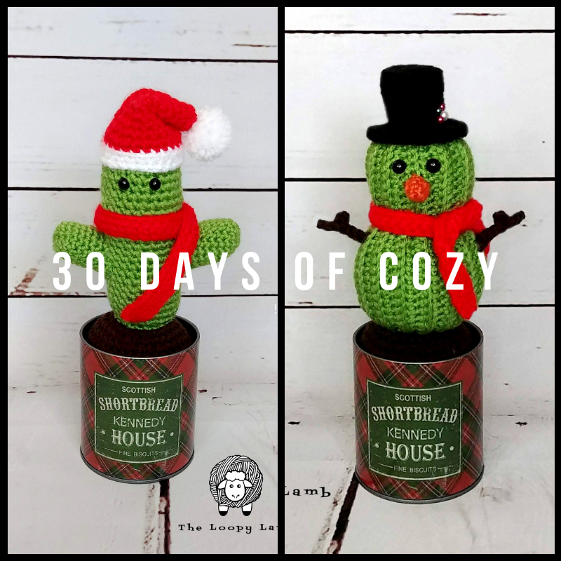 Saint Prickolaus and Stanley the Cactus Snowman Crochet Patterns by The Loopy Lamb