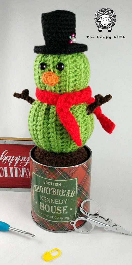 Stanley the Snowman Crochet Pattern - Available as part of the 30 Days of Cozy Pattern Bundle
