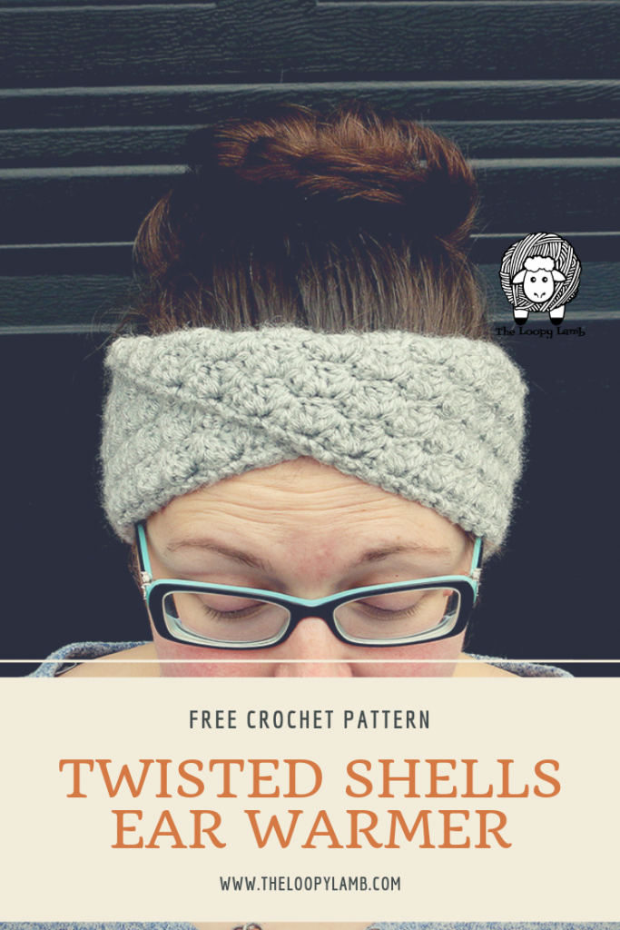 Twisted Shell Crochet Ear Warmer - Free Crochet Pattern by The Loopy Lamb  #crochet #earwarmer #headband #headwrap #crochetpattern