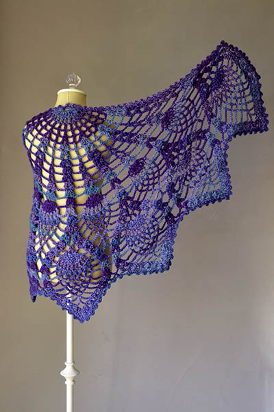 Pineapple Peacock Spring Shawl