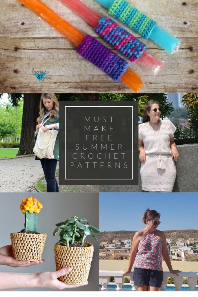 Must Make Free Summer Crochet Pattern Round Up by The Loopy Lamb  #summercrochet #slowfashion #freecrochet #freecrochetpatterns #beginnercrochet #crochettops #raffiaplanter #raffiacrochetpatterns #marketbag #crochetmarketbag #roundup