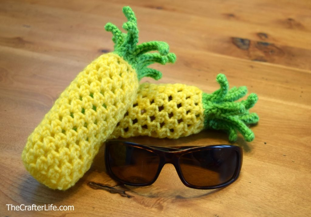Pineapple Drawstring Sunglasses Bag