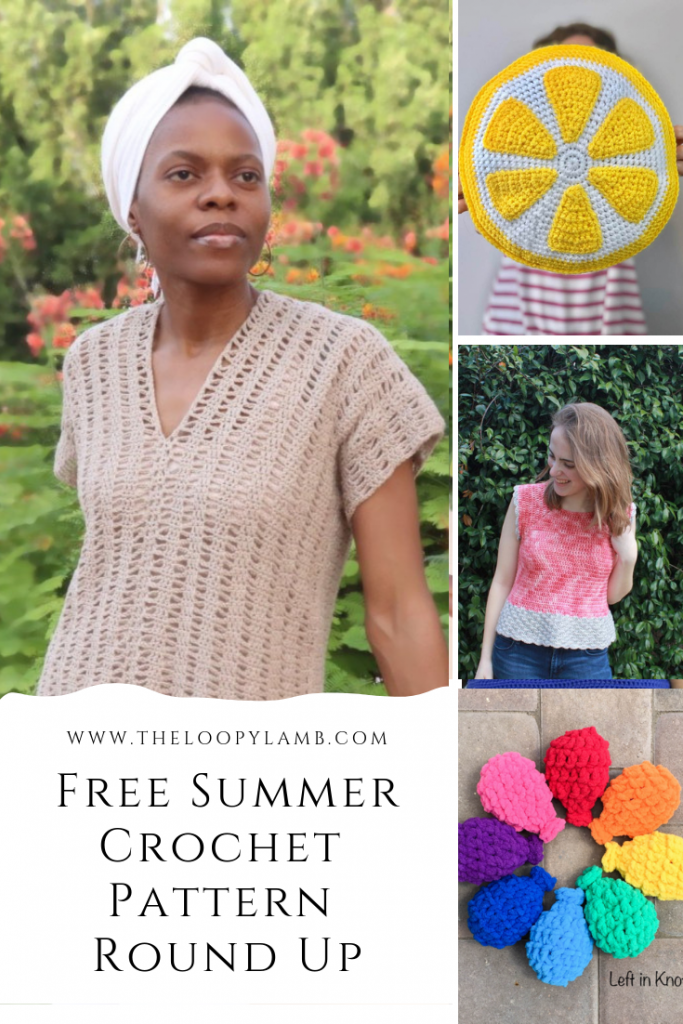 Free Summer Crochet Pattern Round Up by The Loopy Lamb - Looking for some of the best free summer crochet patterns available right now?  Check out this round up by The Loopy Lamb to find your next project today.  #freecrochetpatterns #summercrochetpattern #summercrochet #crochetwaterballoons #summergarmentpattern #crochetroundup #crochet #crochetpattern #Crochettop #amigurumi