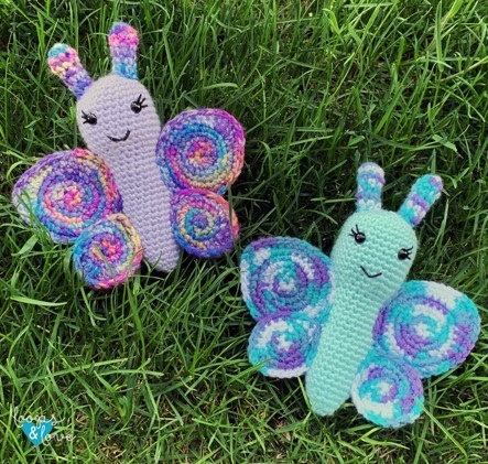 Butterfly Amigurumi Pattern by Loops and Love Crochet
