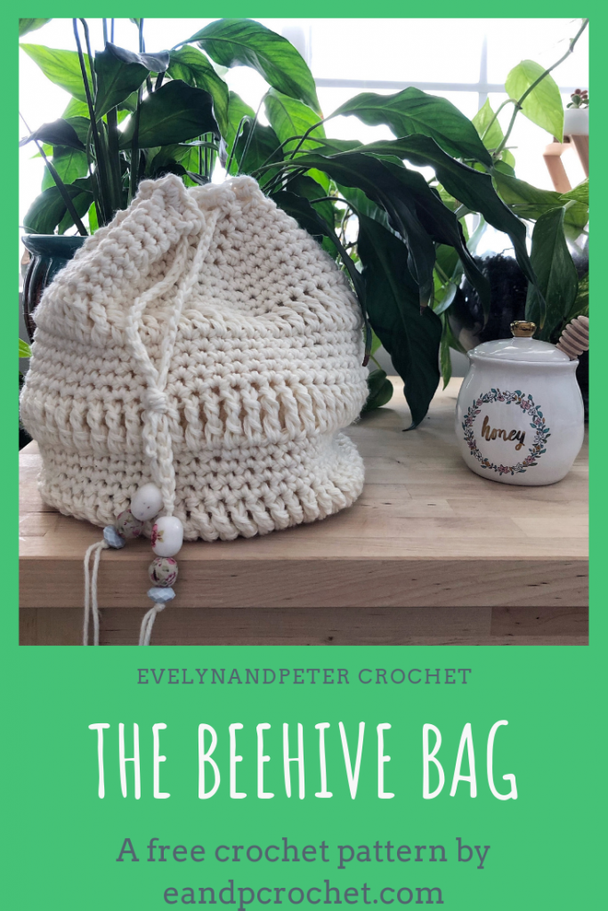 The Beehive Bag by Evelyn and Peter Crochet - Summer accessory pattern