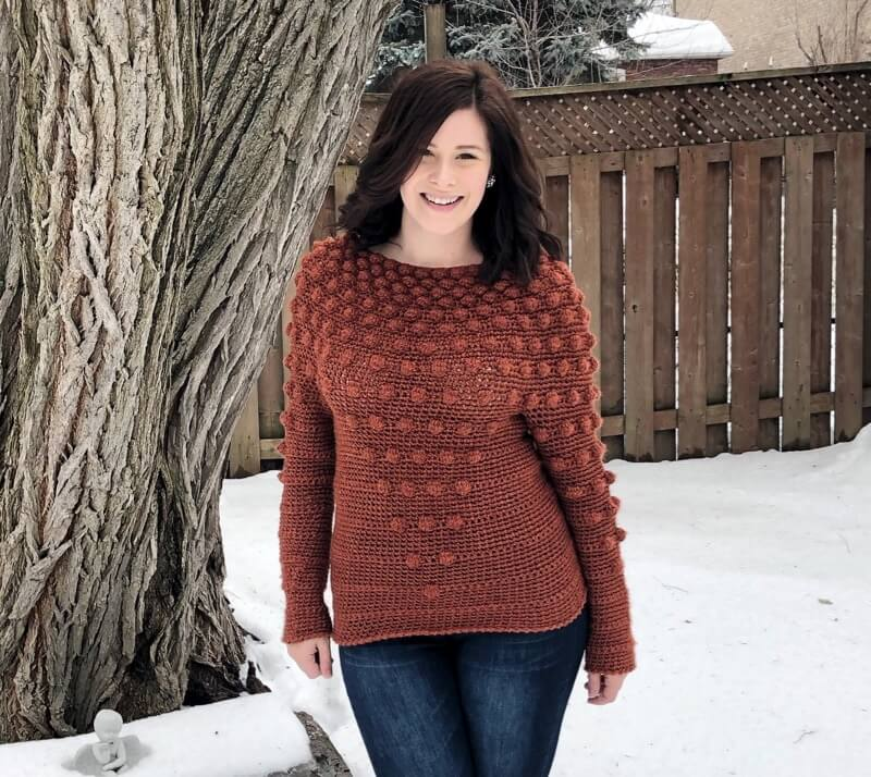 Cascading Bobbles Sweater Pattern by Stephanie Erin