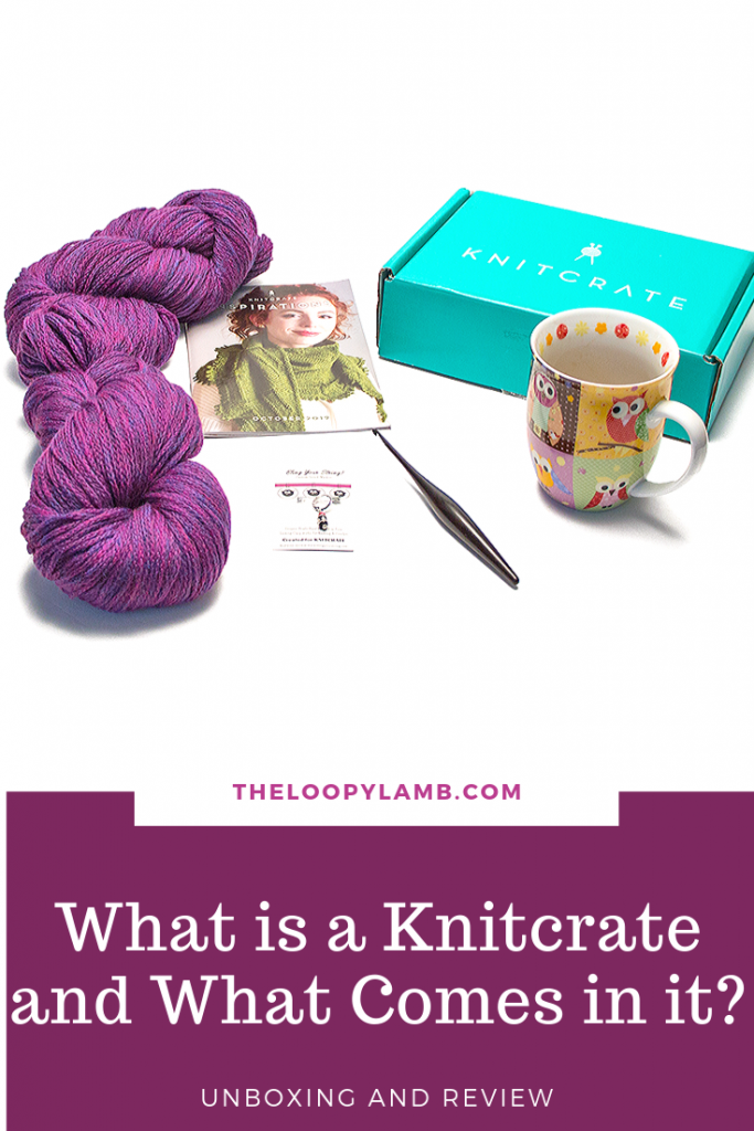 Curious about what a knitcrate is and what comes in it?  Check out my unboxing and unbiased review of the October 2019 Knitcrate.