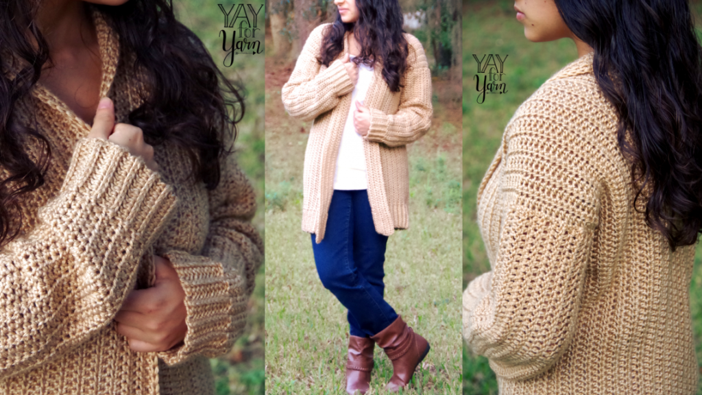 Comfy Cozy Cardian by Yay for Yarn