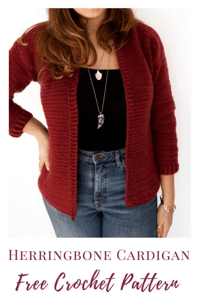Herringbone cardigan by Burgundy and Blush