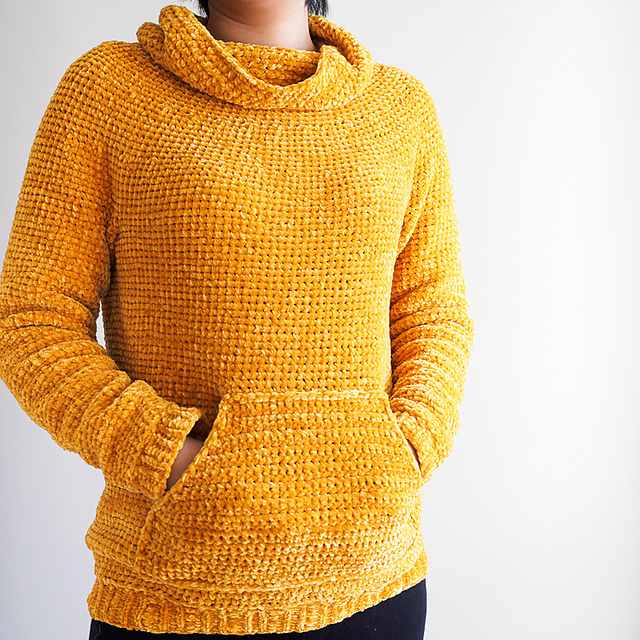 Mysa Sweatshirt sweater pattern by 1 Dog Woof, fall sweater pattern