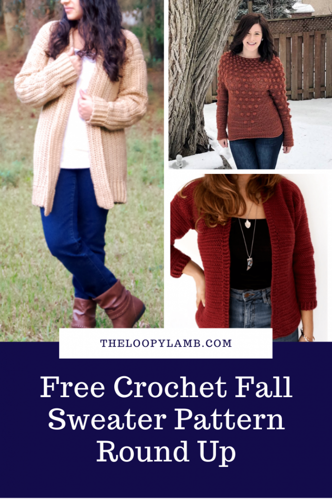 Looking for a great free crochet sweater pattern for fall?  Check out this round up of some stylish and cozy fall sweater patterns.