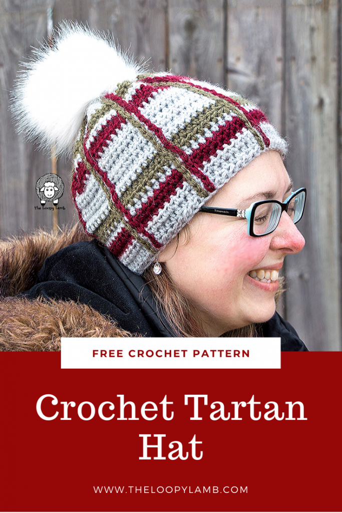 Crochet Tartan Hat - Crochet Plaid Pattern