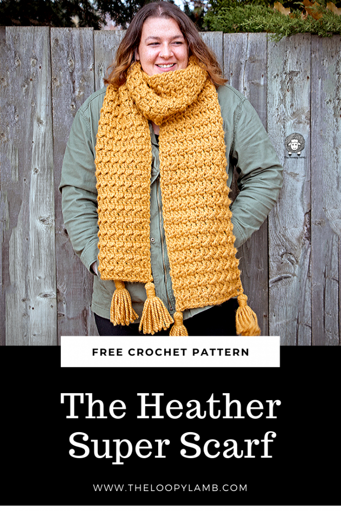 Woman wearing Heather Super Scarf
