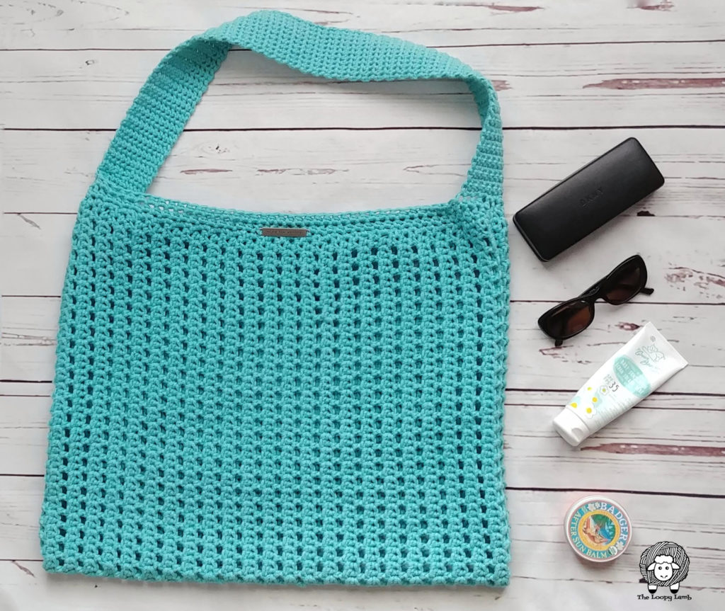 Crochet Tote Bag Free Pattern Finished project
