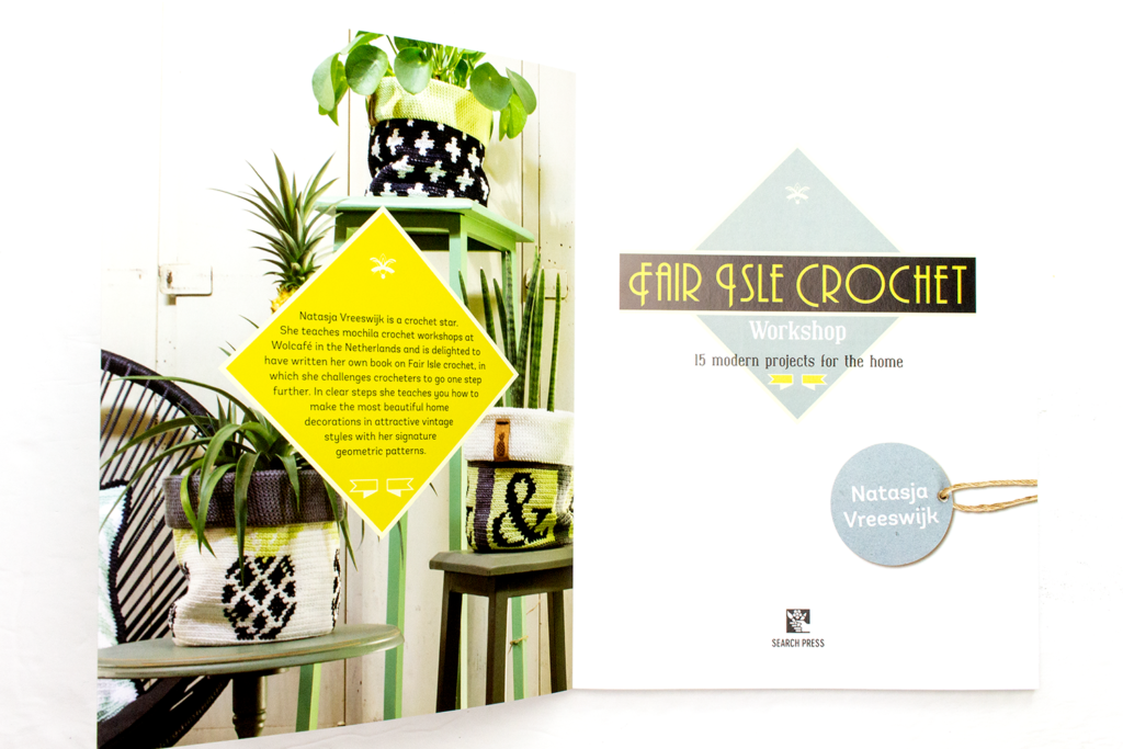 Inside cover of the book Fair Isle Crochet Workshop