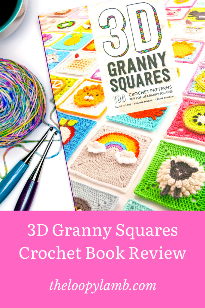 Cover photo of 3D Granny Squares with some furls crochet hooks and hand dyed yarn