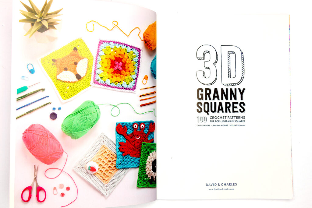 Inside cover of 3D Granny Squares