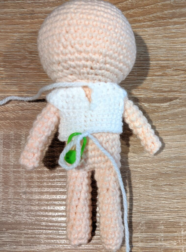 back view of the amigurumi doll