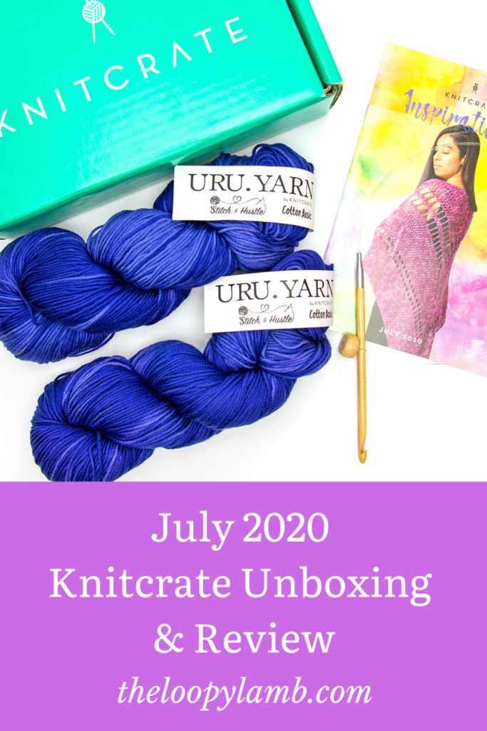 July 2020 Knitcrate unboxing and yarn review