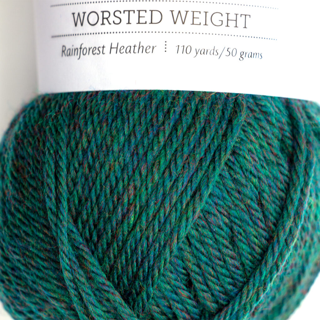 rainforest heather yarn close up