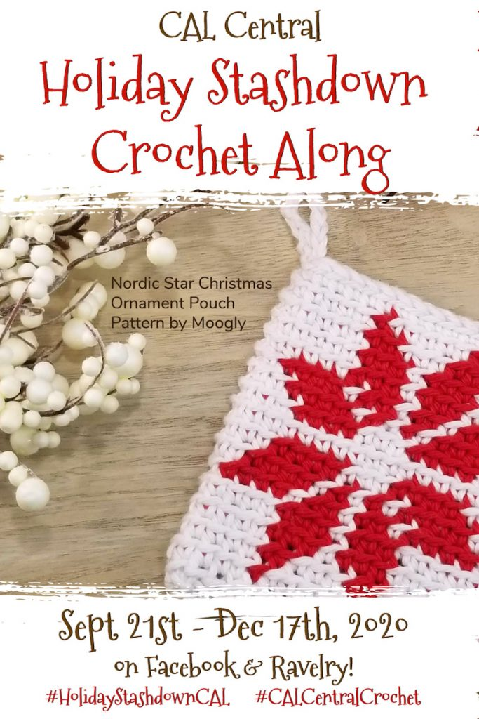 Image advertisting the CAL Central Holiday Stashdown Crochet Along