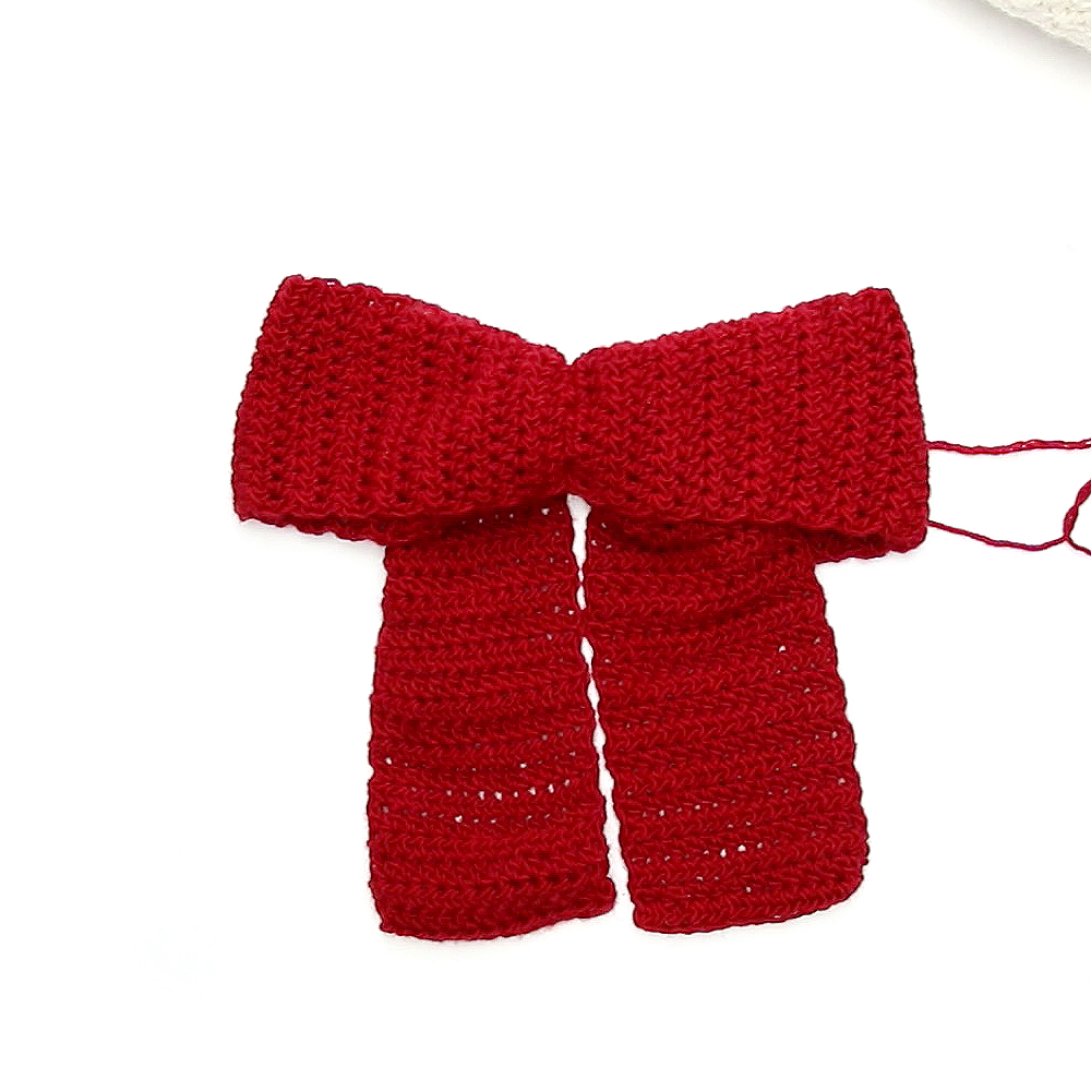 crochet bow tutorial image 2