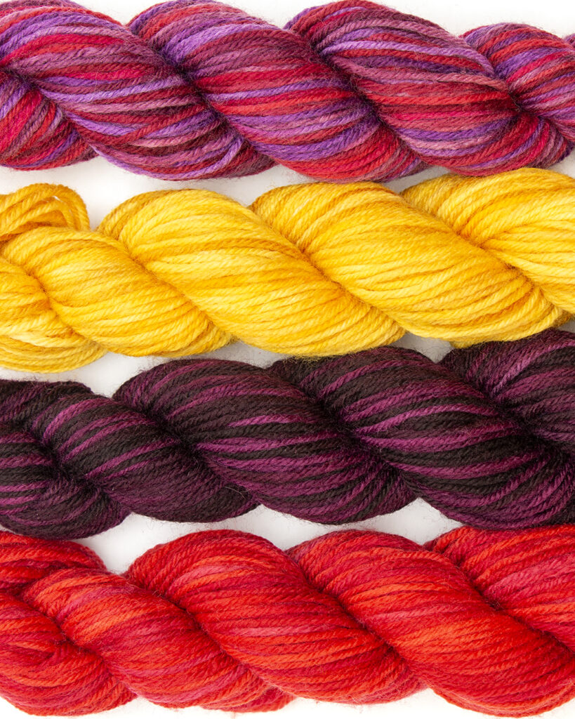 Close up image of the Stroll Tonal Mini Pack yarn