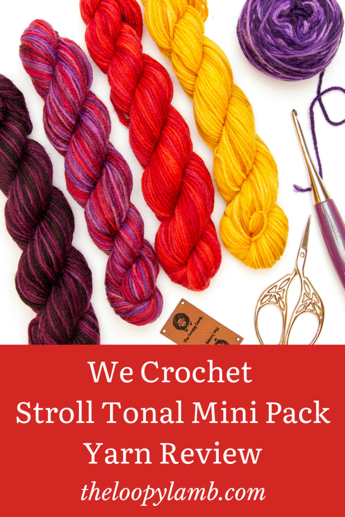Mini hanks of yarn from the Stroll Tonal Mini Pack being reviewed