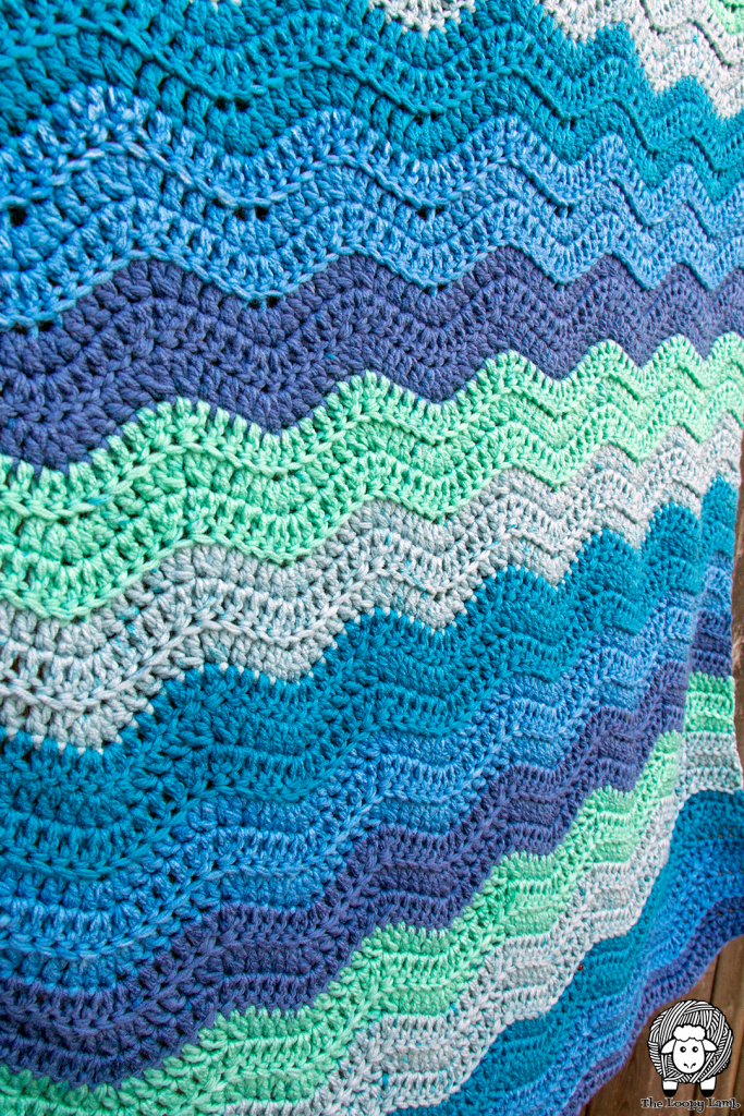 close up of the caron anniversary cakes blanket pattern textures