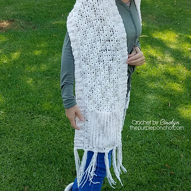 Simple Pocket Scarf from The Purple Poncho