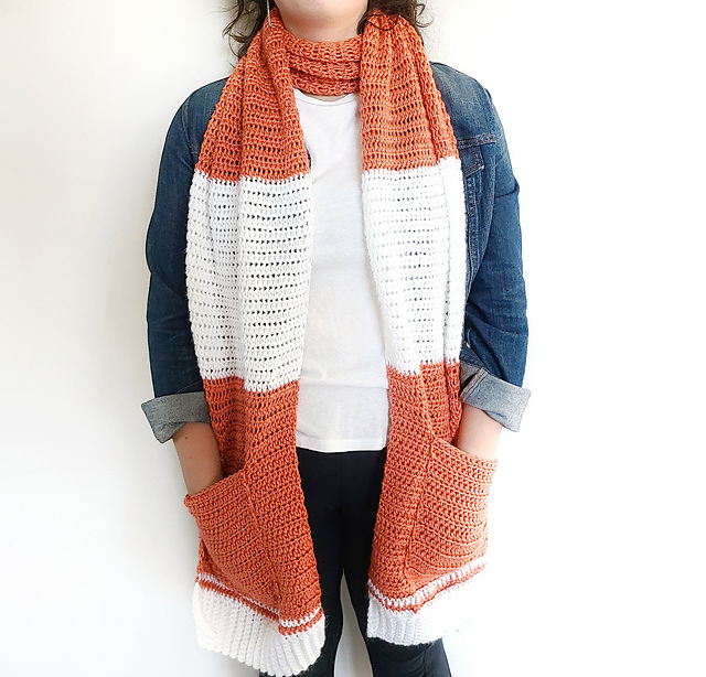 Easy shawl with pocket pattern from Easy Crochet
