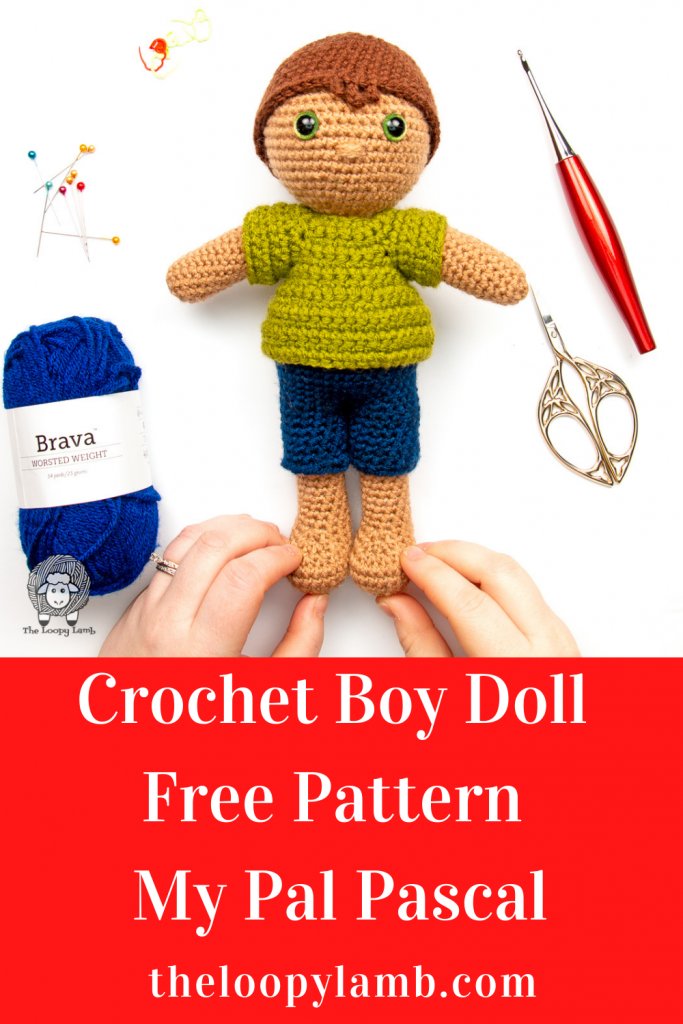 Amigurumi doll made with this Crochet Boy Doll Free Pattern