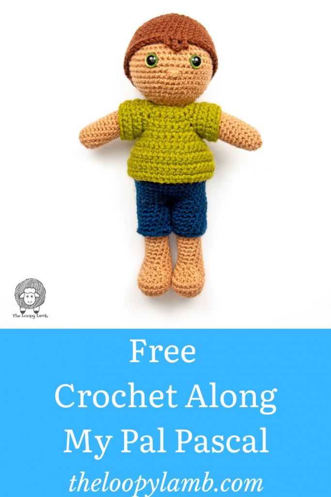 Amigurumi boy doll that will be made in this free crochet along