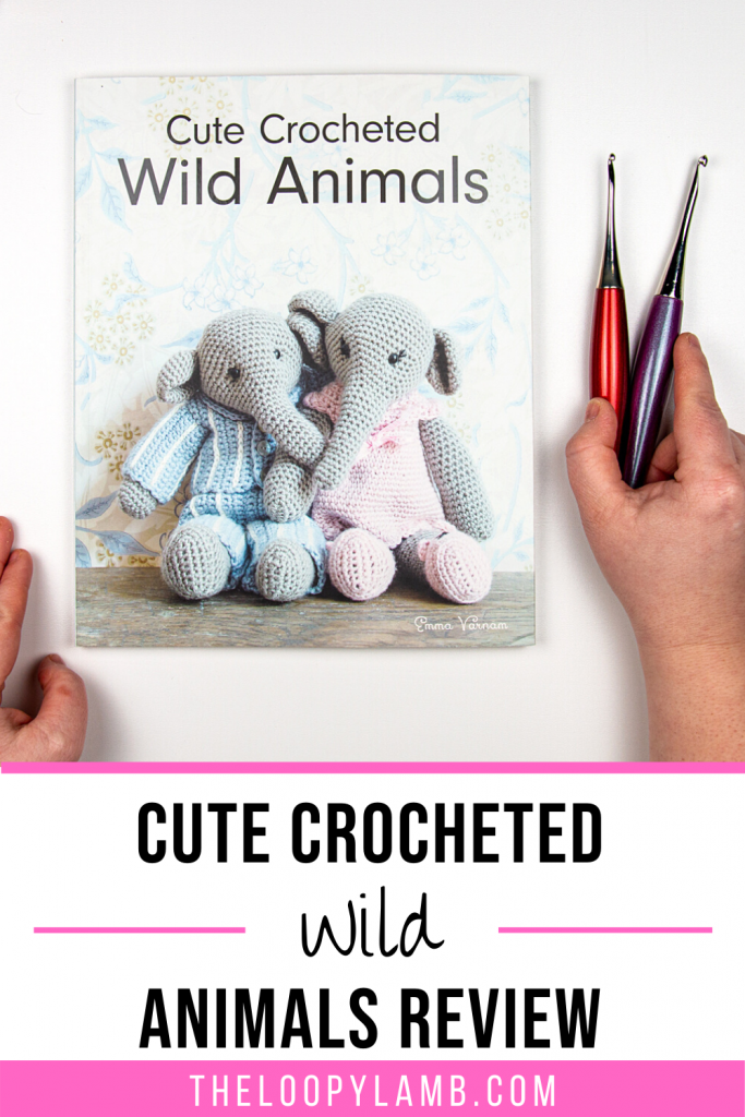 Image of cover of Cute Crocheted Animals by Emma Varnam with text indicating a book review