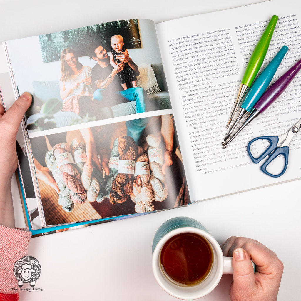 Image from inside the Our Maker Life book by Jewell Washington being reviewed